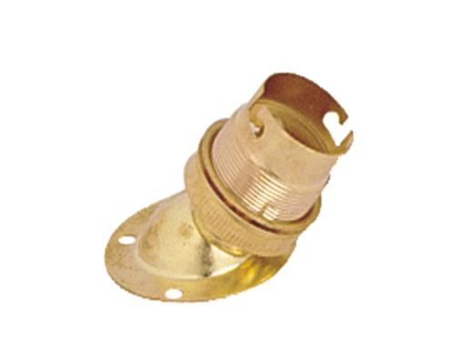 BRASS ANGLE LAMP HOLDER B 22
